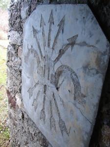 Hiking Madrid Bunkers Cruz Gallega Falange symbol